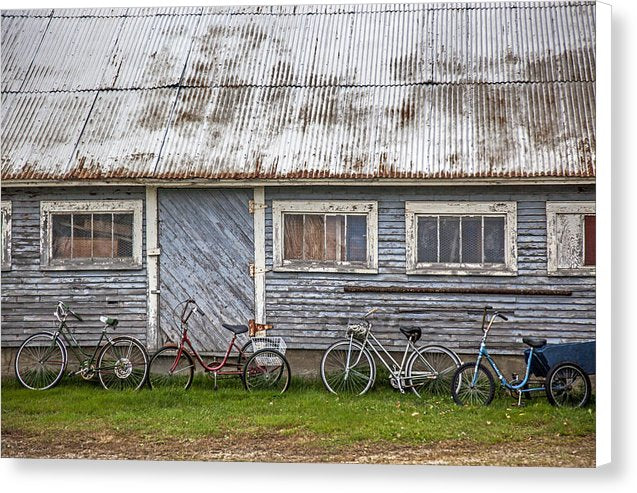 Vermont Bicycles - Canvas Print