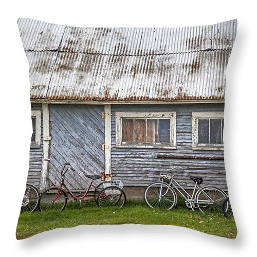 Vermont Bicycles - Throw Pillow