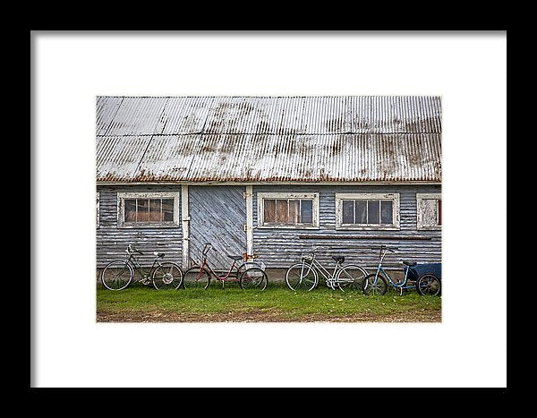 Vermont Bicycles - Framed Print