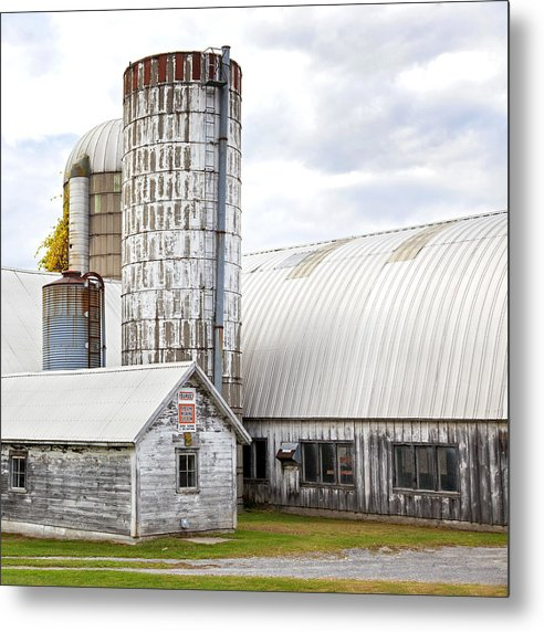 Vermont Farm Near Stowe Cropped - Metal Print
