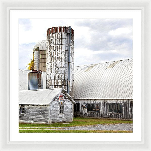 Vermont Farm Near Stowe Cropped - Framed Print