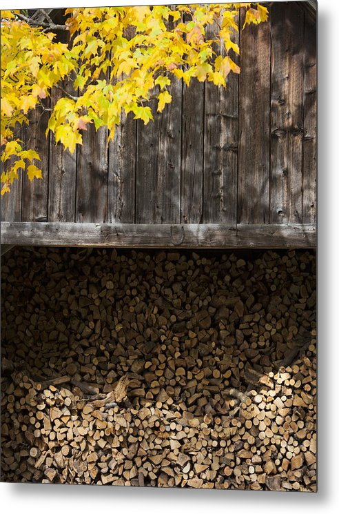 Vermont Woodshed - Metal Print