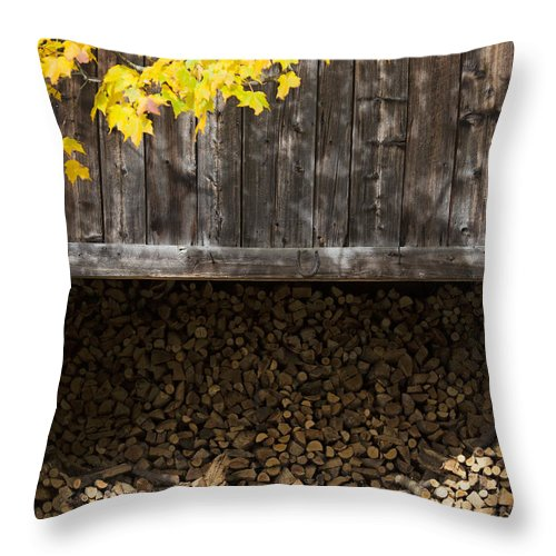Vermont Woodshed - Throw Pillow