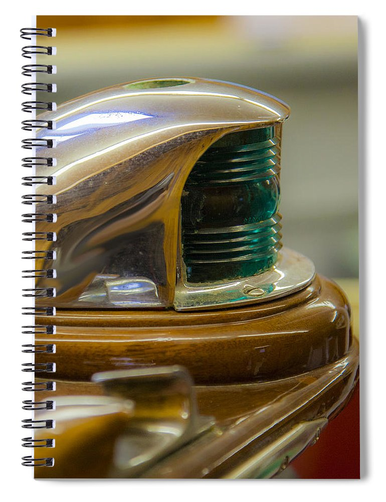 Vintage Century Boat Bow Light - Spiral Notebook