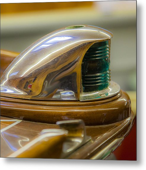 Vintage Century Boat Bow Light - Metal Print