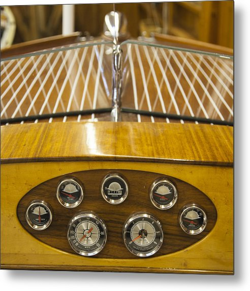 Vintage Century Resorter Boat Dashboard - Metal Print