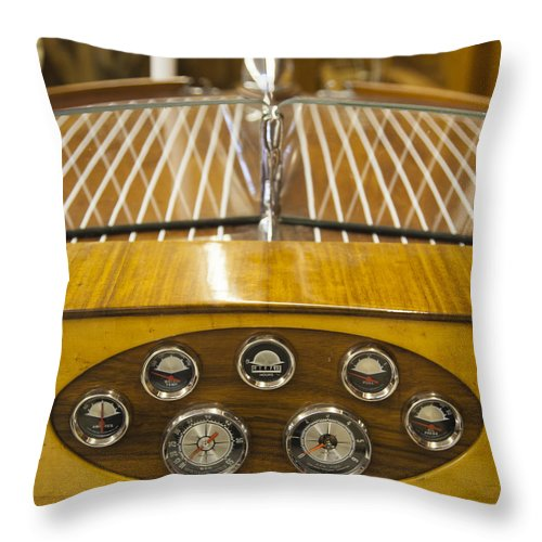 Vintage Century Resorter Boat Dashboard - Throw Pillow