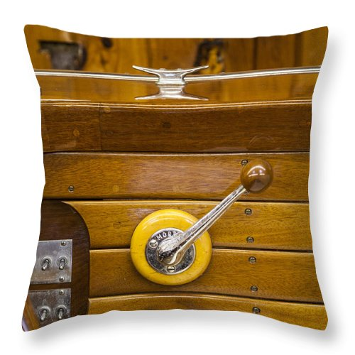 Vintage Century Boat Speed Shift - Throw Pillow
