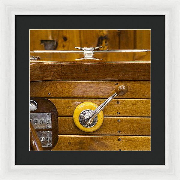Vintage Century Boat Speed Shift - Framed Print