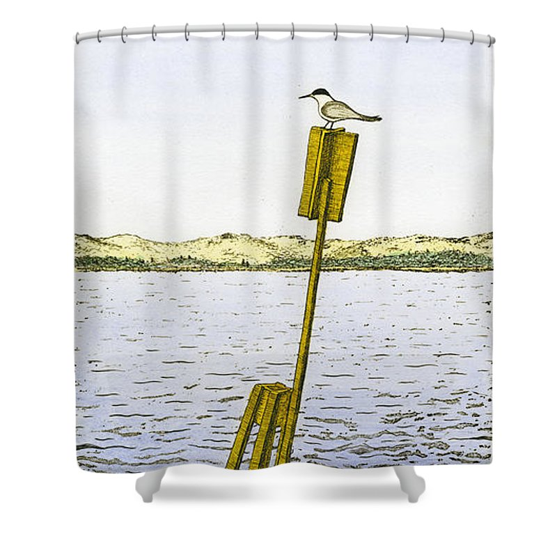 Watching From Number 2 - Shower Curtain