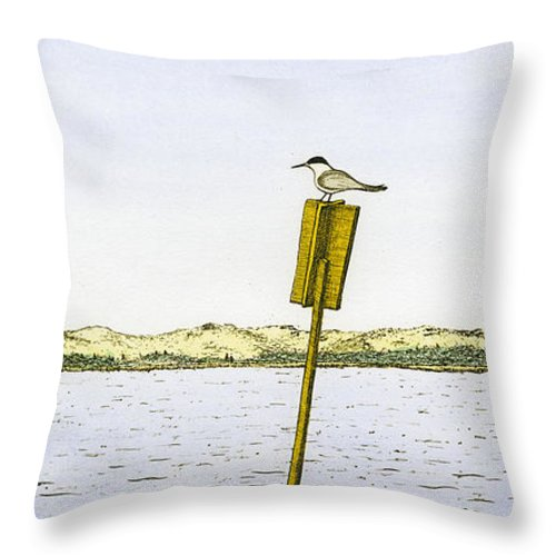Watching From Number 2 - Throw Pillow