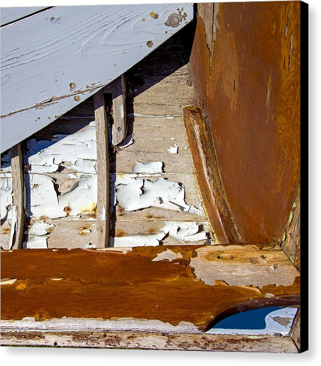 Wooden Boat Abstract 1 - Canvas Print