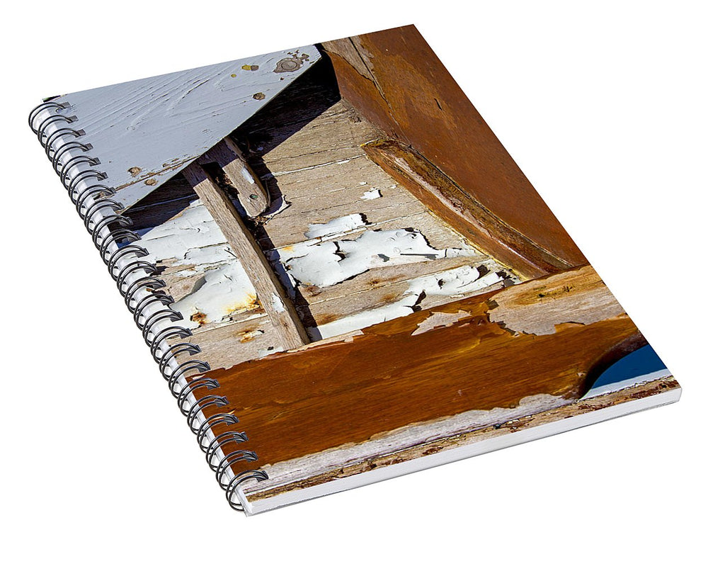 Wooden Boat Abstract 1 - Spiral Notebook