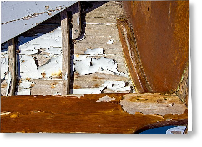 Wooden Boat Abstract 1 - Greeting Card