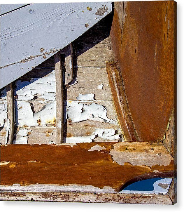 Wooden Boat Abstract 1 - Acrylic Print