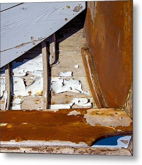 Wooden Boat Abstract 1 - Metal Print