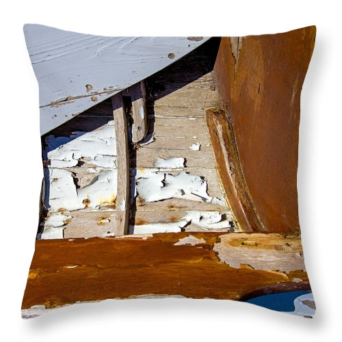 Wooden Boat Abstract 1 - Throw Pillow