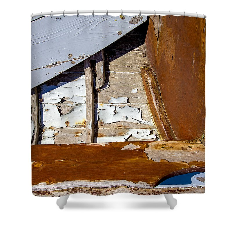 Wooden Boat Abstract 1 - Shower Curtain