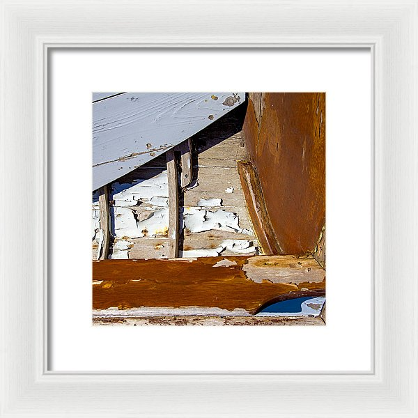 Wooden Boat Abstract 1 - Framed Print