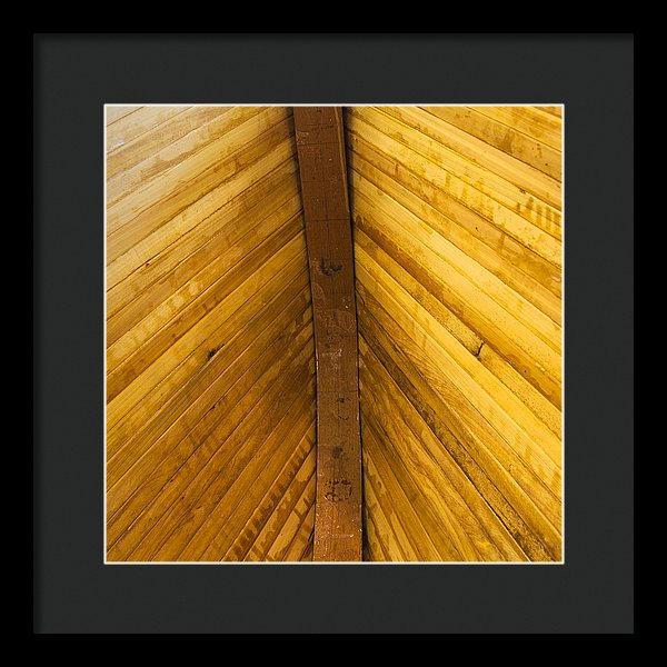Wooden Boat Planks - Framed Print