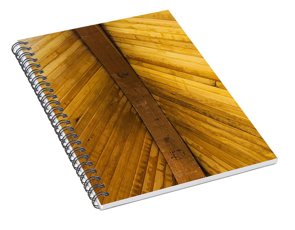 Wooden Boat Planks - Spiral Notebook