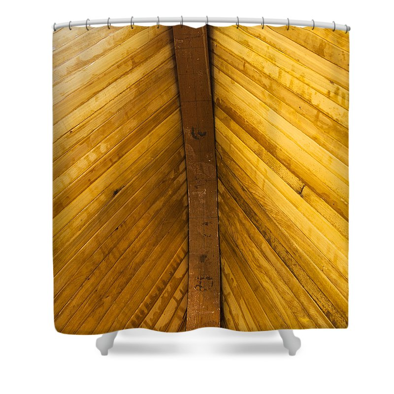 Wooden Boat Planks - Shower Curtain