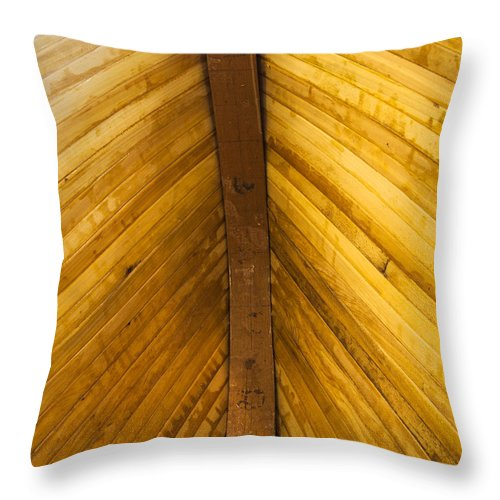 Wooden Boat Planks - Throw Pillow