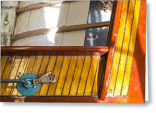 Wooden Sailboat Restoration 2 - Greeting Card