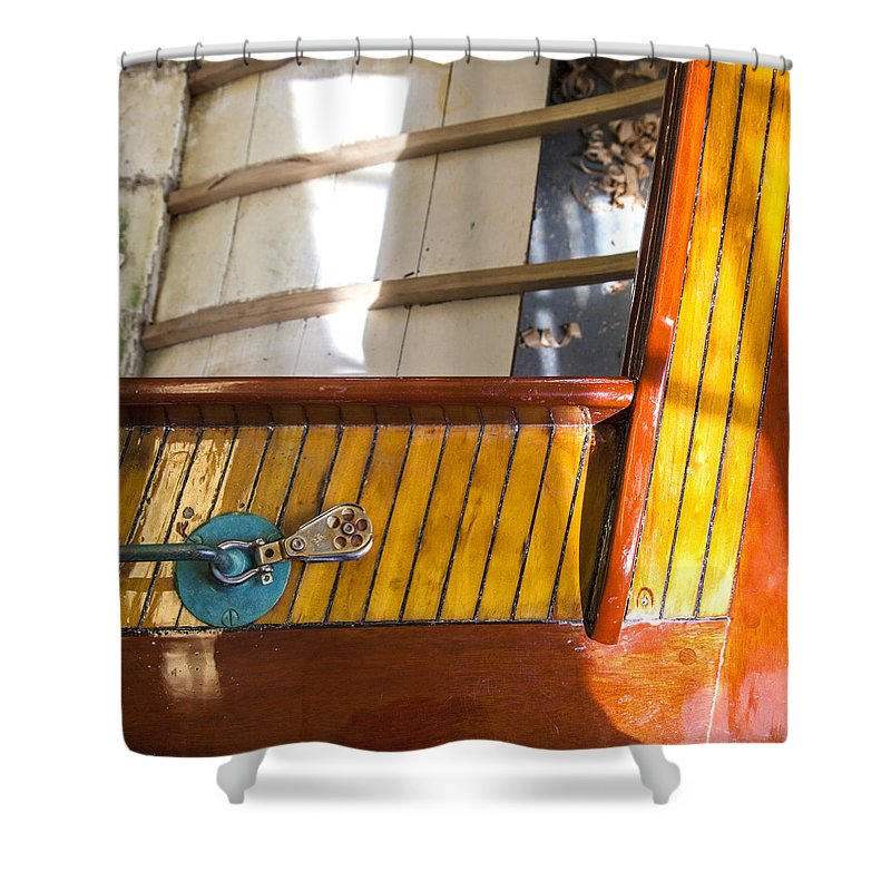 Wooden Sailboat Restoration 2 - Shower Curtain