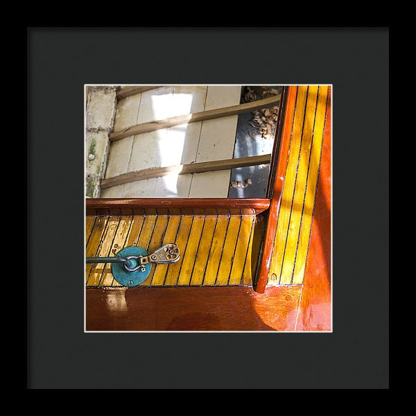 Wooden Sailboat Restoration 2 - Framed Print
