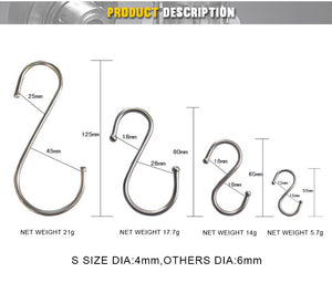 Customized brushed Stainless Steel S Hook