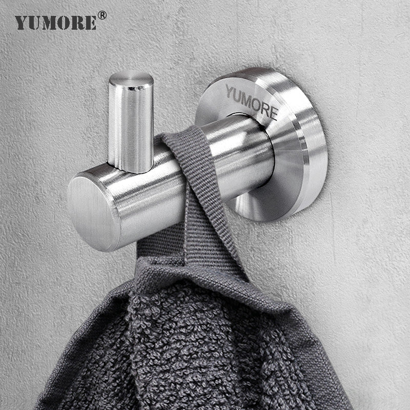 Factory Price Single Hook Bedroom Stainless Steel Screw Wall Mounted Hook