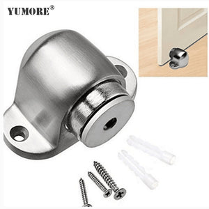 Stainless magnetic floor door stop