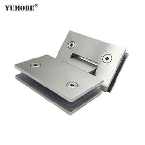Interior door hinges glass panel clamp