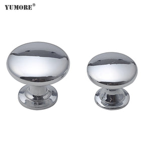 Glossy round small furniture handle&knobs for kitchen cabinet