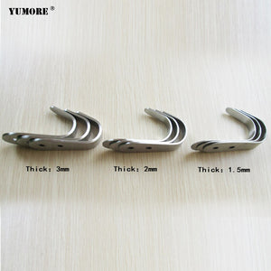 Cheap Single Hook Brushed Stainless Steel Screw Hook