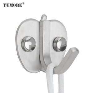 Wholesales Singles Apple stainless steel Creative Coat Cloth Wall Hooks