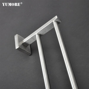 Stainless steel alloy bathroom unique with high quality alloy foldable bathroom door towel rack