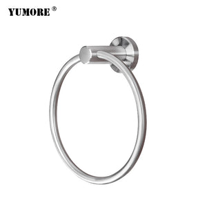 Bathroom wall stainless steel swing arm hanging kitchen towel rack ring