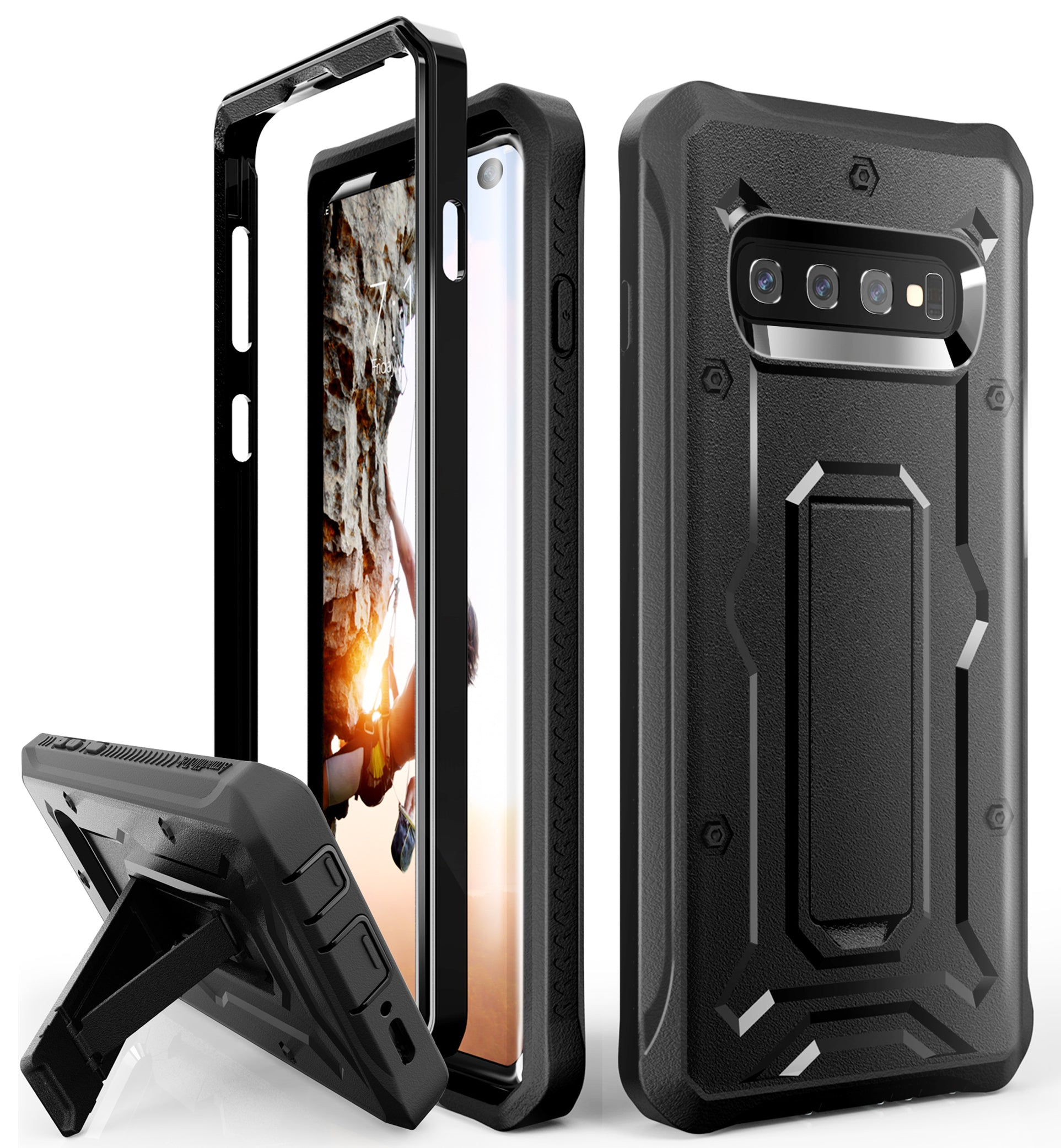 Vanguard Series Galaxy S10 Case - Black - AmardilloTek