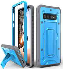 Load image into Gallery viewer, Vanguard Series Galaxy S10 Case - Blue - AmardilloTek
