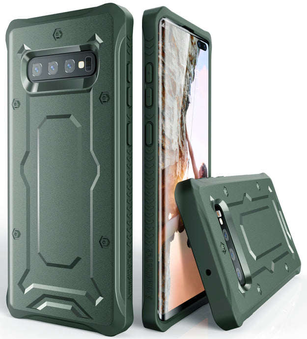 Urban Ranger Series Galaxy S10+ Plus Case -Dark Green - AmardilloTek