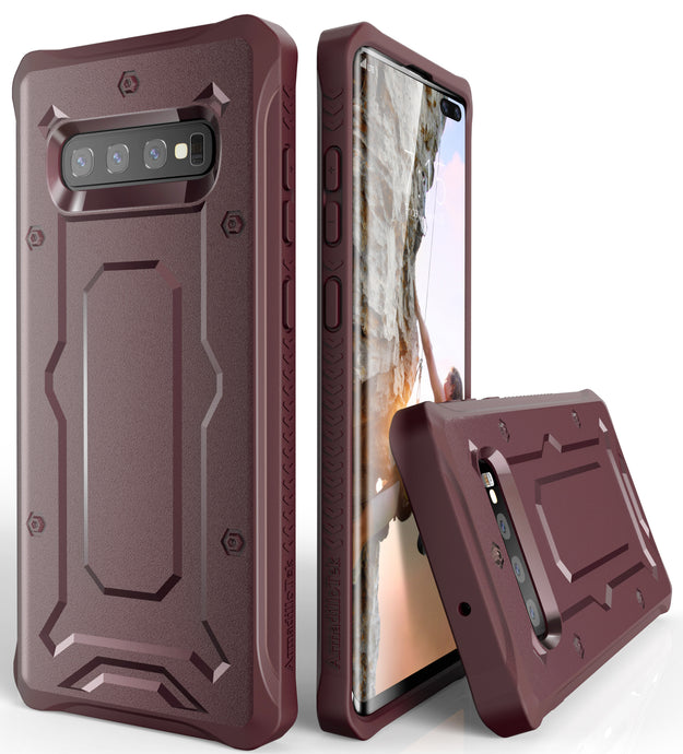 Urban Ranger Series Galaxy S10+ Plus Case -Maroon - AmardilloTek