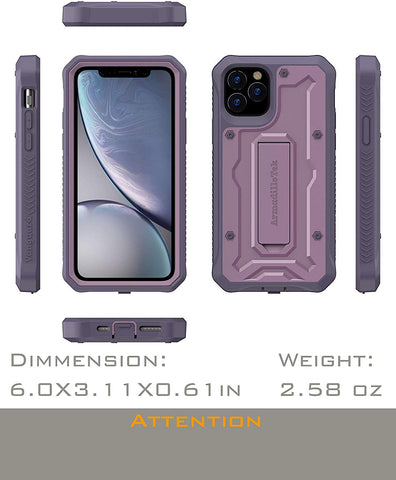 Vanguard Series Apple iPhone 11 Pro (5.8 inches) Case -Purple - AmardilloTek