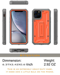 Vanguard Series Apple iPhone 11 Pro MAX (6.5 inches) Case - Orange - AmardilloTek