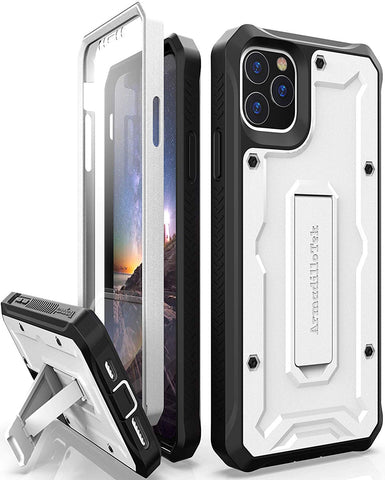 Vanguard Series Apple iPhone 11 Pro MAX (6.5 inches) Case - White - AmardilloTek