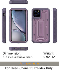 Vanguard Series Apple iPhone 11 Pro MAX (6.5 inches) Case - Purple - AmardilloTek