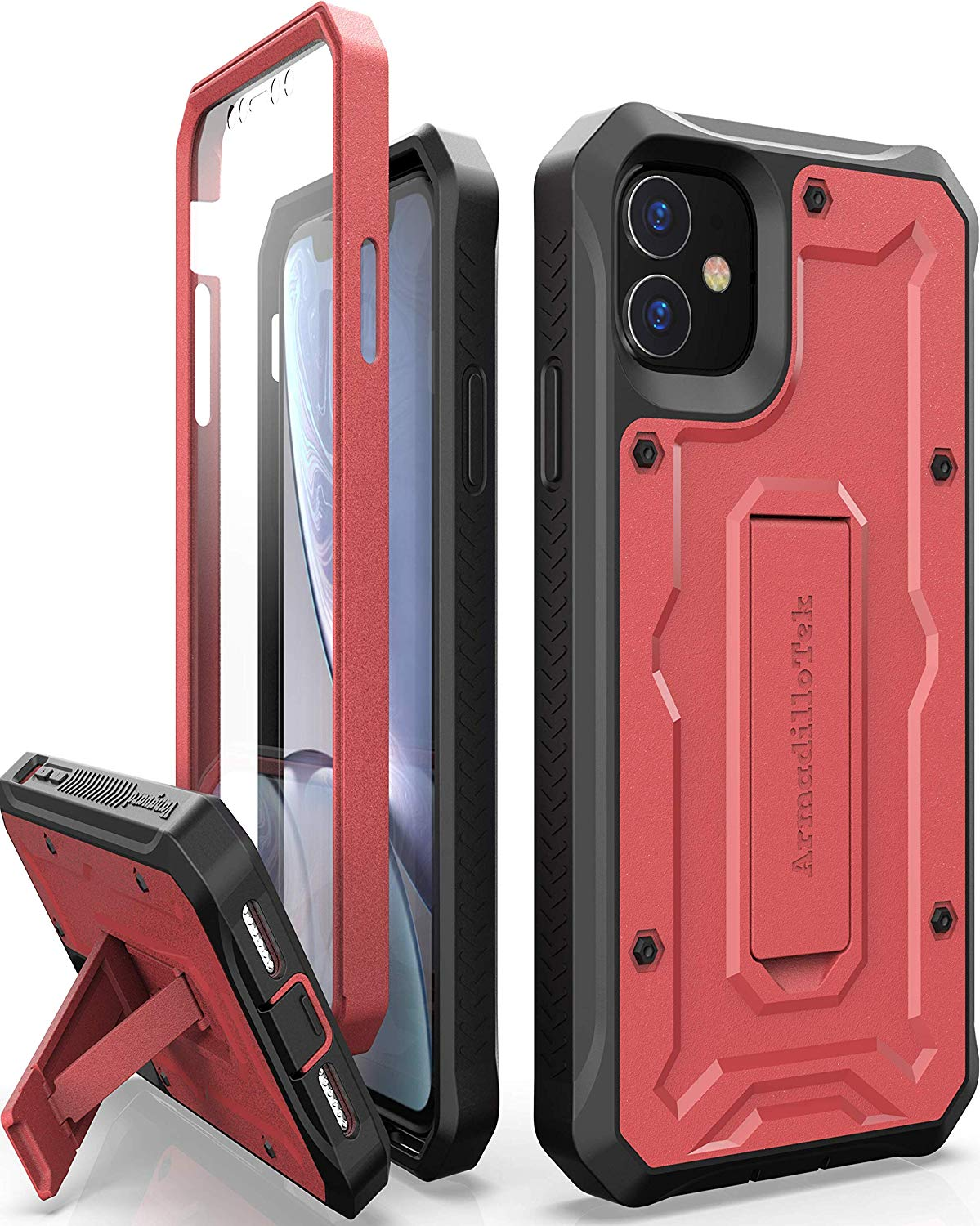 Vanguard Series Apple iPhone 11 (6.1 inches) Case - Red - AmardilloTek