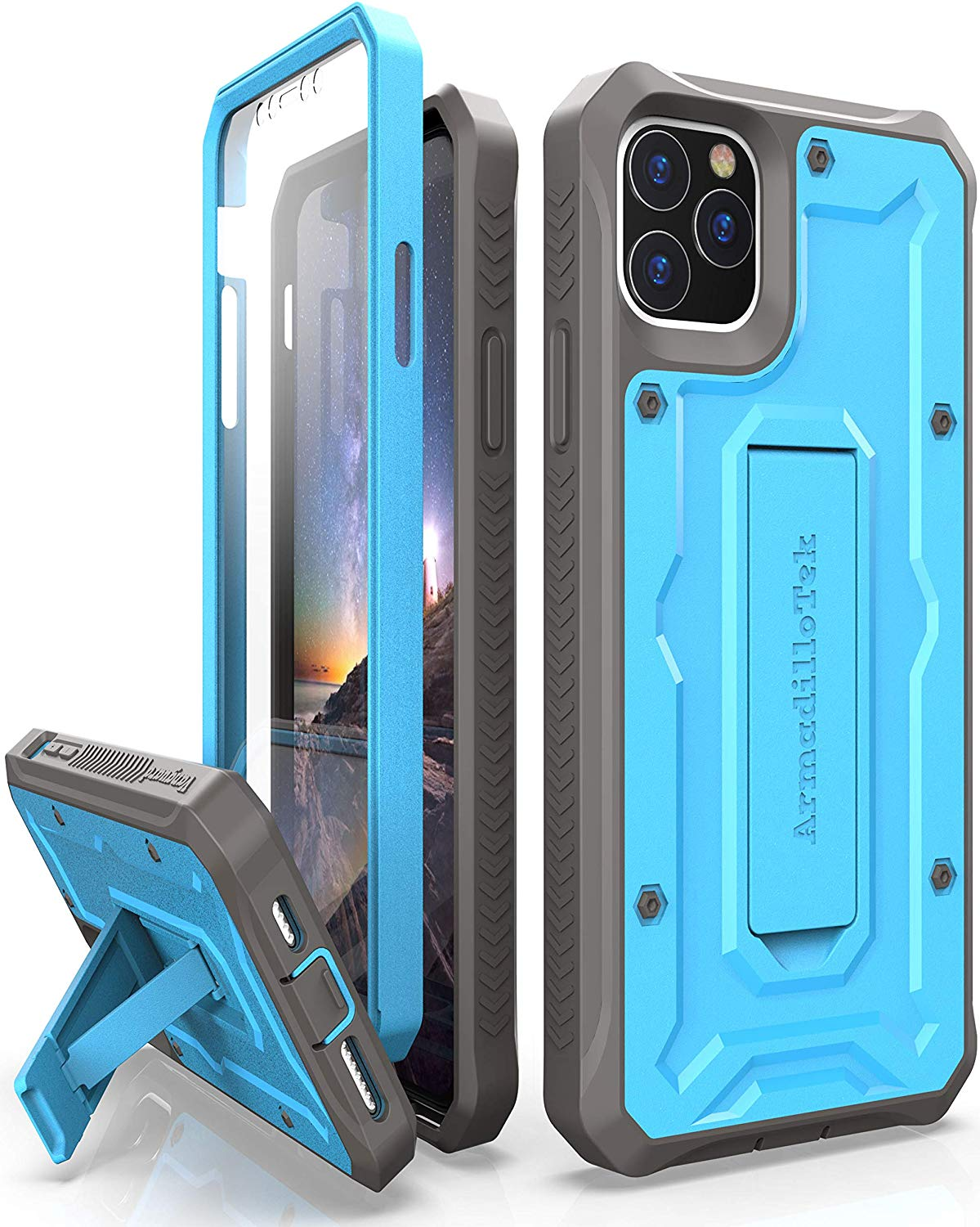 Vanguard Series Apple iPhone 11 Pro (5.8 inches) Case -Blue - AmardilloTek
