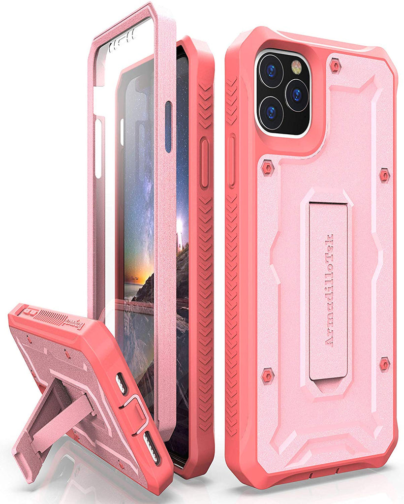 Vanguard Series Apple iPhone 11 Pro MAX (6.5 inches) Case - Pink - AmardilloTek